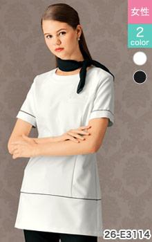 シロタコーポレーションのパイピングデザインが可愛いチュニック白衣