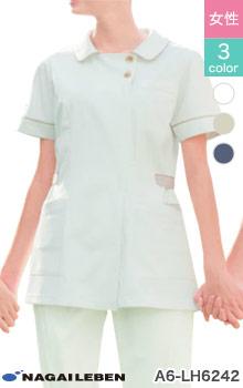 おもてなしスタイルを上品にパワーアップ。ナガイレーベンの制菌チュニック白衣