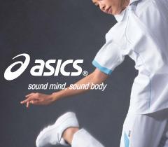 スポーティーで高級感のあるアシックス 医療ユニフォーム