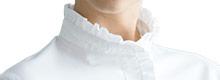七分袖ブラウス(31-BL8055)の襟アップ