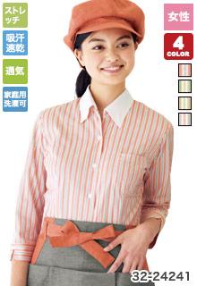 ベルカラー七分袖シャツ(32-24241)