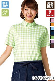 チェック柄が華やかな印象のポロシャツ