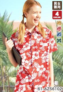 半袖アロハシャツ(61-AZ56102)