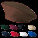 ストレッチ素材でほどよいフィット感のベレー帽