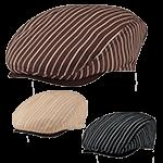 ストライプ柄のハンチング帽(31-DN7912)