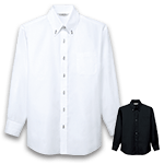 クールにかっこよくキマるシャドーストライプ柄の長袖ボタンダウンシャツ