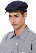 青色の帽子