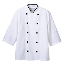 モンブランの七分袖コックコート[男女兼用] 71-6-471(473 475)