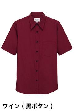 人気の半袖カラーシャツ(ワイン)