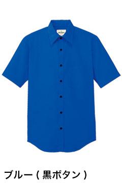 人気の半袖カラーシャツ(ブルー)