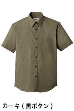人気の半袖カラーシャツ(カーキ)