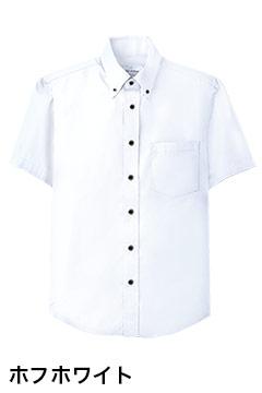 人気のボタンダウン半袖シャツ(ホワイト)
