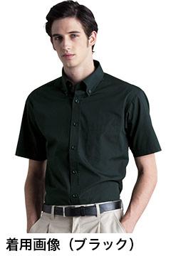 人気のボタンダウン半袖シャツ(ブラック)