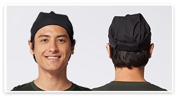 バンダナキャップの着用イメージ
