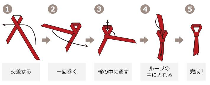 コックタイ・スカーフタイの基本の折りたたみ方