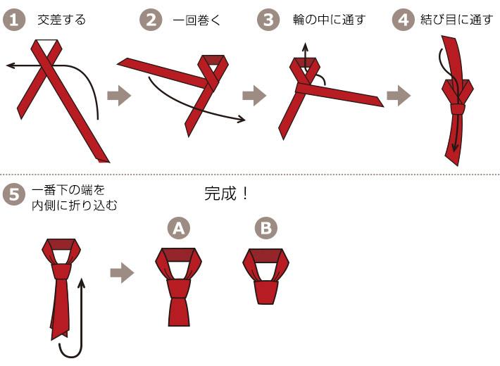 四角巾の基本の結び方
