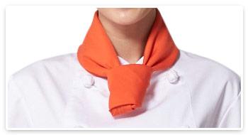 四角巾の結び方のイメージ