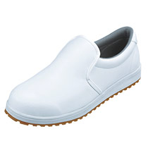 滑りにくさを追求した白色の耐滑厨房シューズ(02-85665)