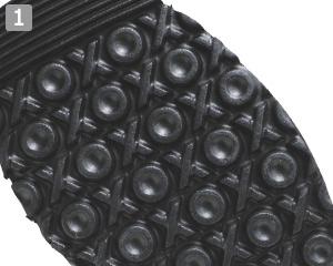厨房シューズめちゃ軽クックのポイント�滑りにくい吸盤状の靴底