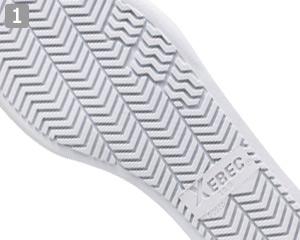 厨房シューズ(02-85661)のポイント�グリップのきくEVA+ラバー仕様の靴底