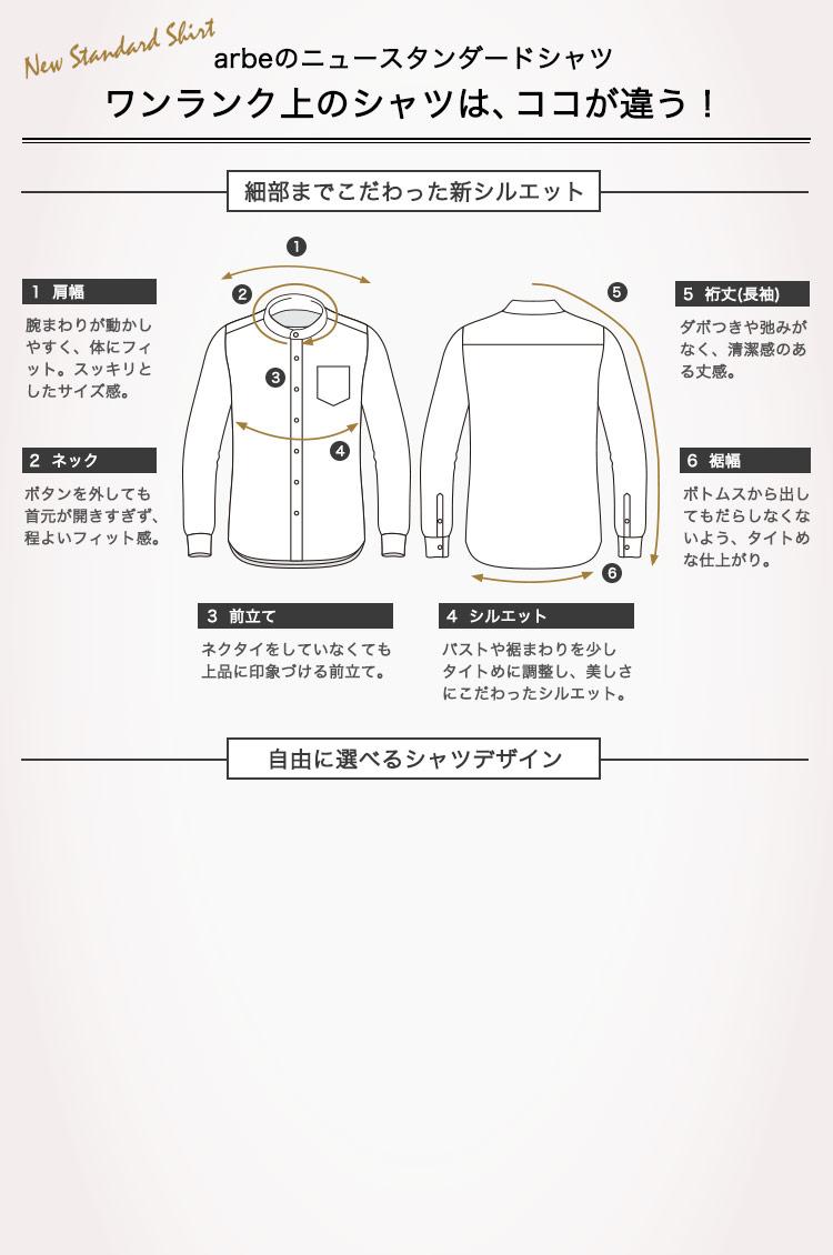 チトセアルべのニュースタンダードシャツ(スタンドカラーシャツ)。ワンランク上のシャツはココが違う!