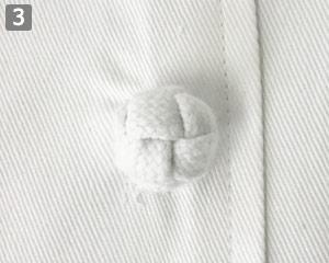 半袖コックコート�組紐ボタン