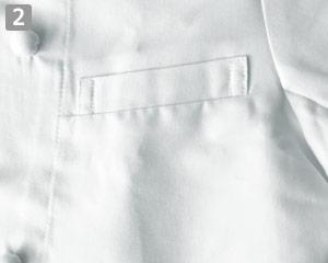 ウィングカラーコックコートのポイント�左胸ポケット付き