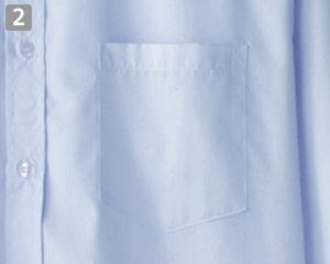 長袖シャツのポイント�左胸ポケット