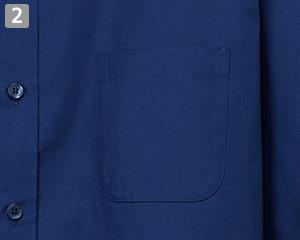 七分袖レギュラーカラーシャツのポイント�左胸ポケット