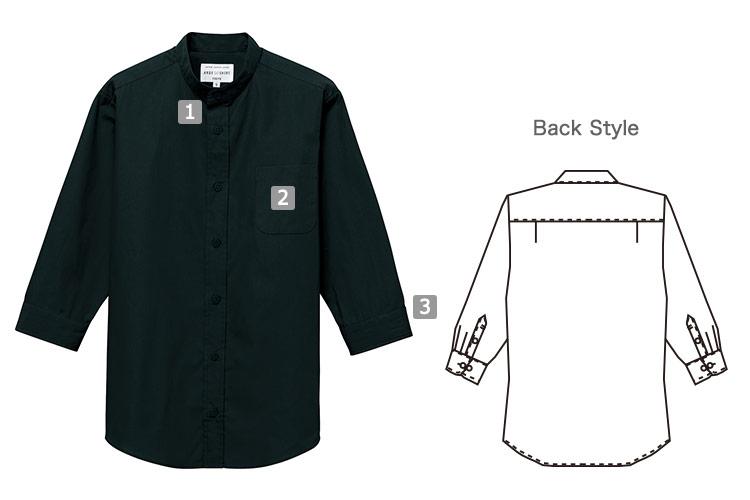 七分袖スタンドカラーシャツ(31-EP8361)の商品詳細