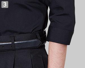 七分袖スタンドカラーシャツのポイント�作業しやすい七分袖