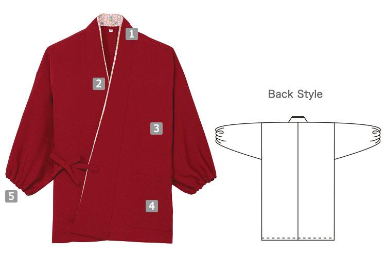 作務衣(31-K8406)の商品詳細
