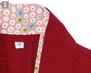 作務衣のポイント�衿元のデザイン