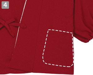 作務衣のポイント�左腰ポケット