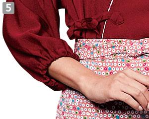 作務衣のポイント�袖口ゴム仕様