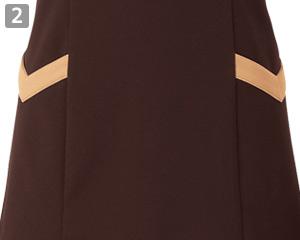 ニットワッフルシャツのポイント2:小物を入れられる便利な両腰ポケット付き