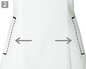 チュニックシャツのポイント2:小物を入れられる便利な両脇ポケット付き