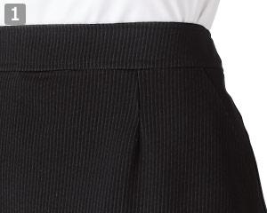 セミフレアスカートのポイント�両脇ポケット
