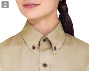 半袖ボタンダウンシャツのポイント�ボタンダウンカラー