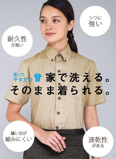 キレイシルエットの半袖ボタンダウンシャツの特徴