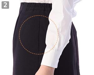 スカートのポイント�両脇シームポケット