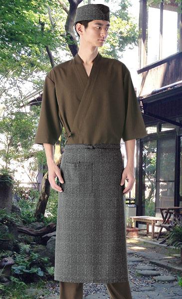 ロング丈エプロンのコーディネート例(男性)