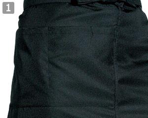 ソムリエエプロンのポイント�大きめのポケット