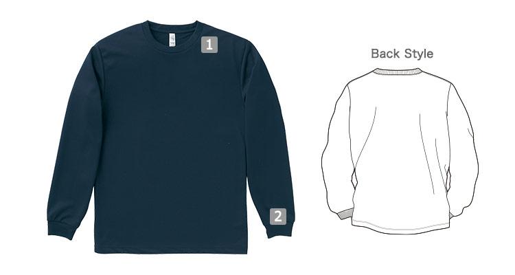 サラッとした肌触りで着心地の良いロングスリーブTシャツの商品詳細(34-ms1603)