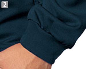 腕まくりしやすいリブ付きの袖口(34-ms1603)
