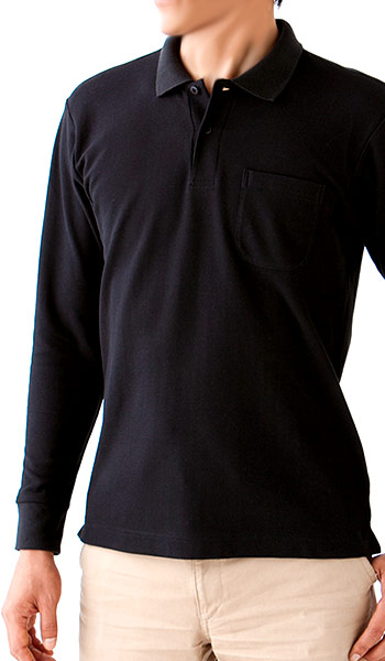 鹿の子ドライ長袖ポロシャツの特徴(34-ms3115)