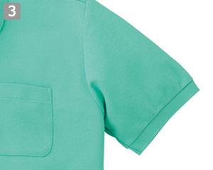 T/Cポロシャツのポイント�袖口リブ仕様
