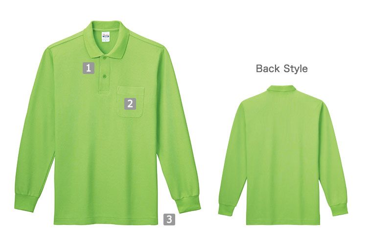 T/C長袖ポロシャツ(41-00169VLP)の商品詳細