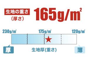 カジュアルポロ(41-00193CP)生地の厚さの画像