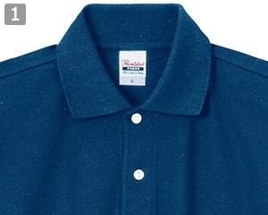スタンダードポロシャツのポイント�乳白色のボタン